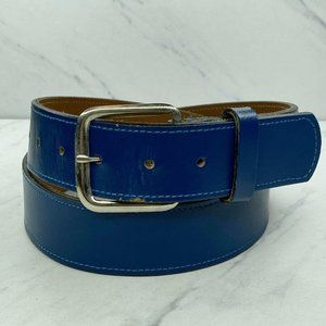 Stitched Embroidered Blue Belt Size 34